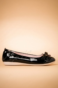 50s Foldable Bow Ballerina in Black