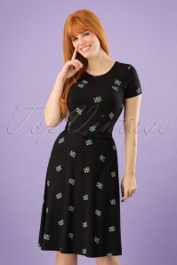 Mademoiselle Yeye Beth Floral Black Dress 102 14 23652 20171207 0008w