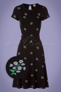 Mademoiselle Yeye Beth Floral Black Dress 102 14 23652 20171207 0002wv