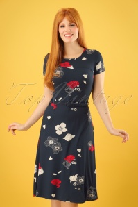 Mademoiselle Yeye Beth Blue Foral Dress 102 39 23653 20171211 0007w