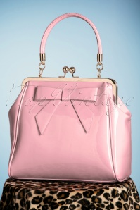 Banned Retro 50s American Vintage Patent Bag in Pink