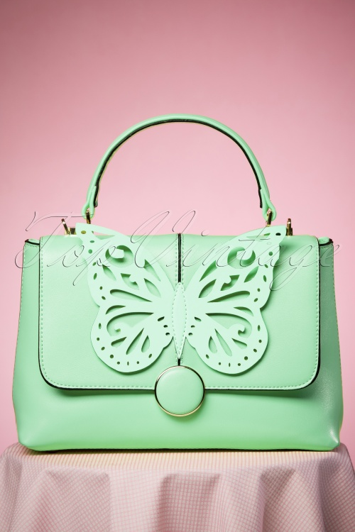 Dancing Days by Banned Mint Butterfly Handbag 212 32 24108 24012018 013W