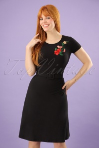 Mademoiselle Yeye Black Floral Dress 106 10 23674 20171207 0007w