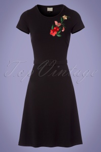 Mademoiselle Yeye Black Floral Dress 106 10 23674 20171207 0002w