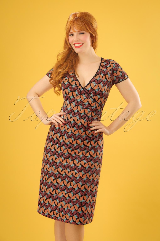 1960s Dresses: New 60s Style Dresses – Jackie O to Mod 60s Libellule Cross Dress in Black £83.80 AT vintagedancer.com