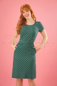 60s Mona Mazapan Dress in Green