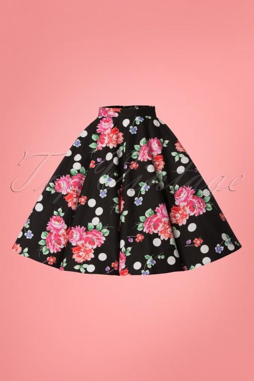 dbff3874cf3 Bunny Collarette 50 s Skirt in Black 24081 20171222 0001W