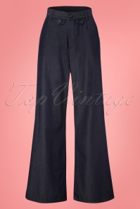 Mademoiselle Yeye Lisa Denim Trousers 131 30 23667 20171211 0003W