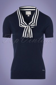 Mademoiselle Yeye Felice Blue top in Navy Blue 113 31 23671 20171211 0003w