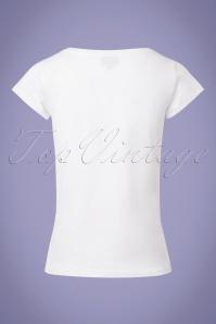 Mademoiselle Yeye Florina White Lips T shirt 111 50 23675 20180202 0007w