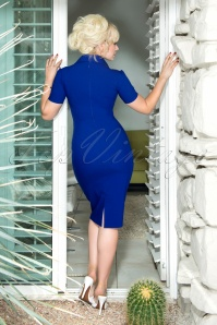 Glamour Bunny Rita Rae Pencil Dress in Blue 23868 20180104 01W