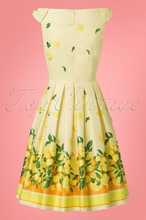 be97fa93b3ac Lindy Bop Christie Lemon Border Swing Dress 24563 20180103 0008w