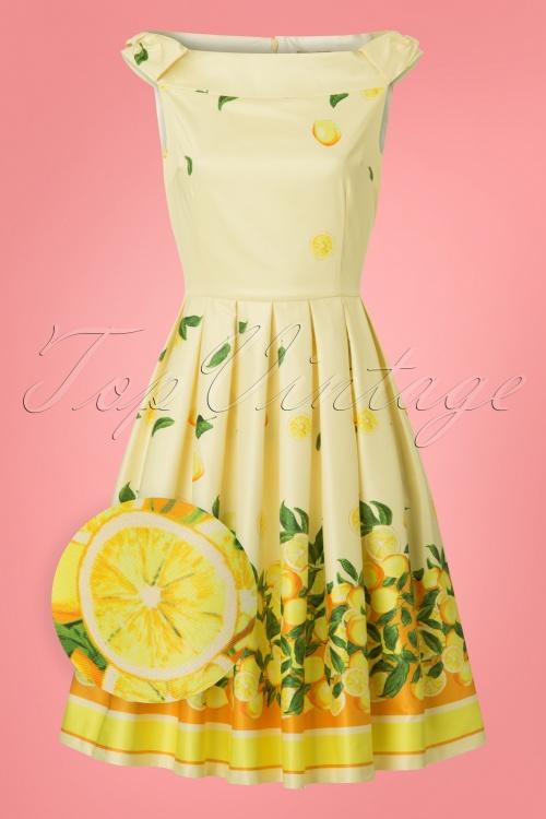 036c77662903 Lindy Bop Christie Lemon Border Swing Dress 24563 20180103 0003wv