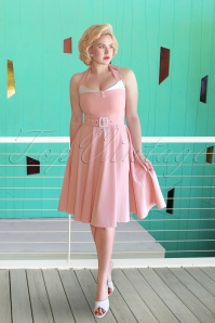 Glamour Bunny 50s Alice Swing Dress in Soft Pink