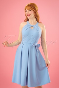 Lindy Bop Cherel Swing Dress Light Blue 24561 20180102 0009w