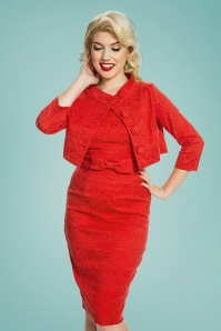 Lindy Bop Maybelle Red Lace Pencil Dress 100 20 24769 20170403 0016a