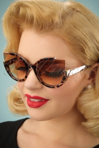 50s Extreme Cat Eye Sunglasses in Leopard