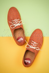 Derby Polkadot Dream Shoes Années 60 en Tangerine