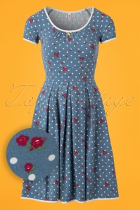 60s Marilyns Cottage Dress in Blue