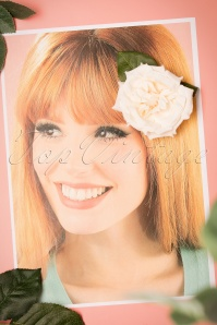 Collectif Clothing Garden Cream Hairclip 200 51 24370 15112017 003W