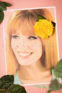 Collectif Clothing Yellow Garden Hairclip 200 80 24372 15112017 003W