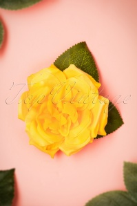 50s Garden Rose Hair Clip in Yellow