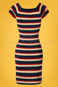 King Louie Marie Knit Dress Glitter Dark Navy Striped 23285 20180105 0006W
