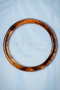 50s Dainty Bangle Bracelet in Tortoise