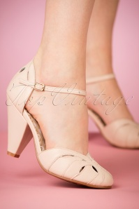 50s Sally Pumps in Nude