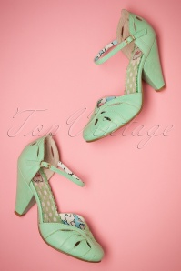 50s Sally Pumps in Mint