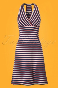 King Louie T Black Dress Skipper Striped in Royal Blue 23299 20180116 0004w