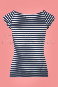 King Louie Tina Top Nuit Blue Stripes 111 39 23177 20180213 0005w