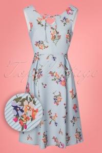 Yumi Floral Light Blue Striped Dress 22931 20180214 0001W1