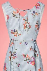 Yumi Floral Light Blue Striped Dress 22931 20180214 0001V