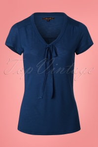 60s Goldie Bow Top in Royal Blue