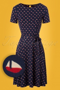 60s Betty Offshore Dress in Blue