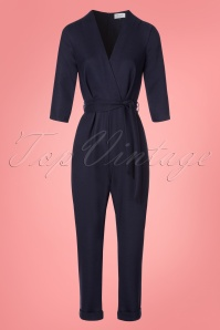 Closet London Blue Crossover Jumpsuit 24458 20180214 0002W