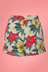 King Louie Roisin Hibiscus Shorts  130 57 23196 20180215 0008W