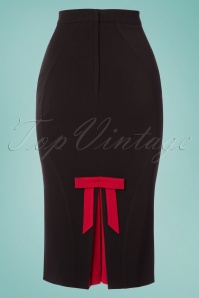 Miss Candyfloss TopVintage Exclusive Black Bow Pencil Skirt 120 10 24189 20180215 0005W