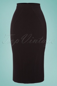 TopVintage Exclusive ~ 50s Frances Bow Pencil Skirt in Black and Red