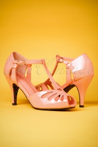 40s Secret Love Sandals in Blush Pink