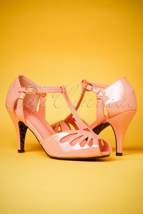 40s Secret Love Sandals in Blush Pink