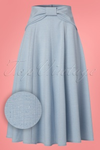 Miss Candyfloss Light Blue Swing Skirt 122 30 24197 20180215 0009W1