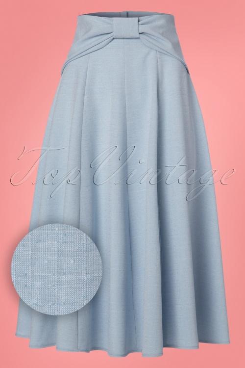 Miss Candyfloss Light Blue Swing Skirt 122 30 24197 20180215 0009W1