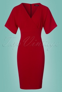 50s Lorraine Pencil Dress in Red