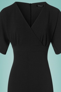 Vintage Chic Cross Bust Crepe Pencil Dress in Black 100 10 24519 20180216 0015c