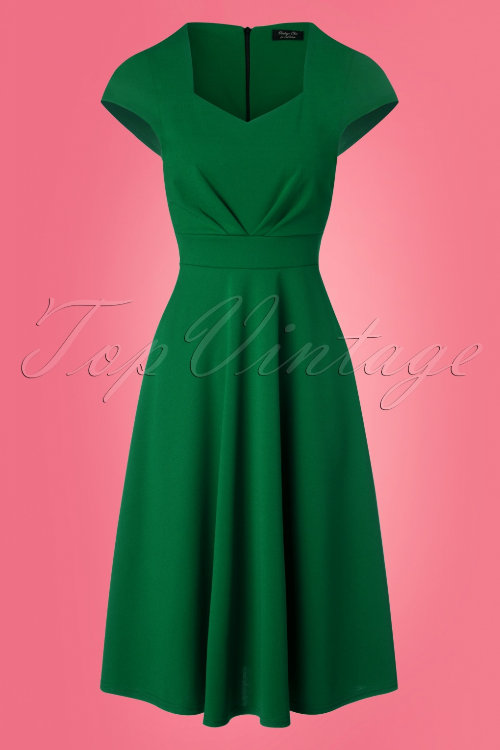 50s ruby short sleeve swing dress in emerald green. Black Bedroom Furniture Sets. Home Design Ideas
