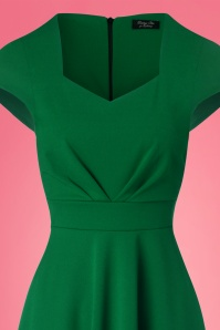 Vintage Chic Scuba Crepe Sweetheart Neckline Green Dress 102 40 24509 20161026 0005c