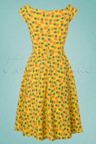 Vintage Chic Yellow Pineapple Dress 102 89 22652 20180216 0001W