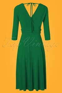 Vintage Chic 3 4 Sleeve Green Dress 102 40 24518 20180216 0003w